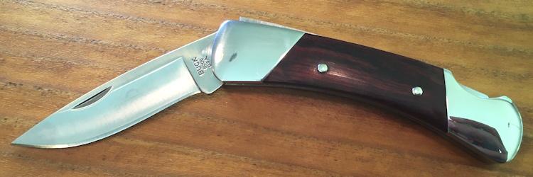 buck knives 'duke' pocketknife blade