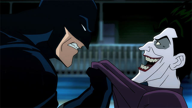 "Batman (voice of X) and The Joker (voice of Mark Hamill), from ""Batman: The Killing Joke"""