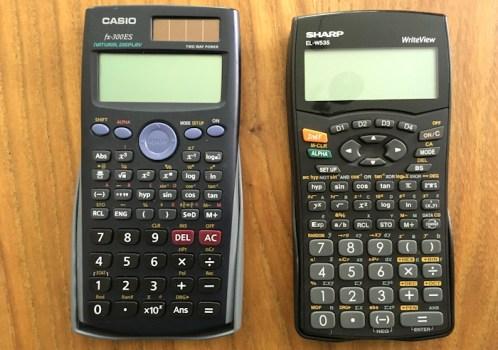 casio sharp calculator