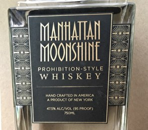 manhattan moonshine label