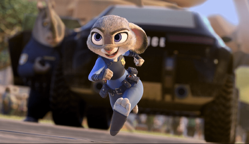 officer judy hopps from Zootopia