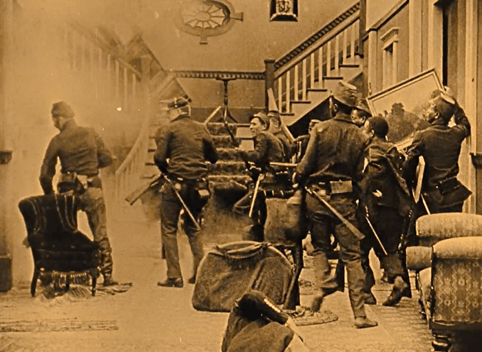 the birth of a nation 1915 scene: union soldiers plunder confederate home