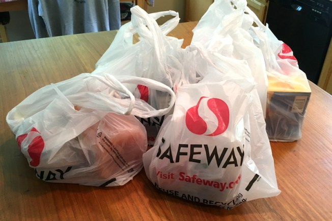 bags of groceries from safeway