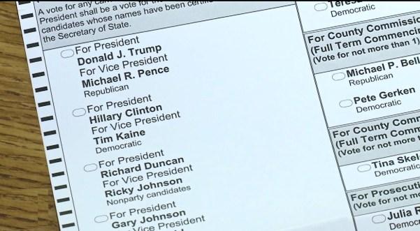 colorado ballot 2016, potus president candidates trump clinton
