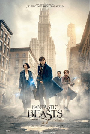 Fantastic Beasts and Where to Find Them Movie Poster One Sheet