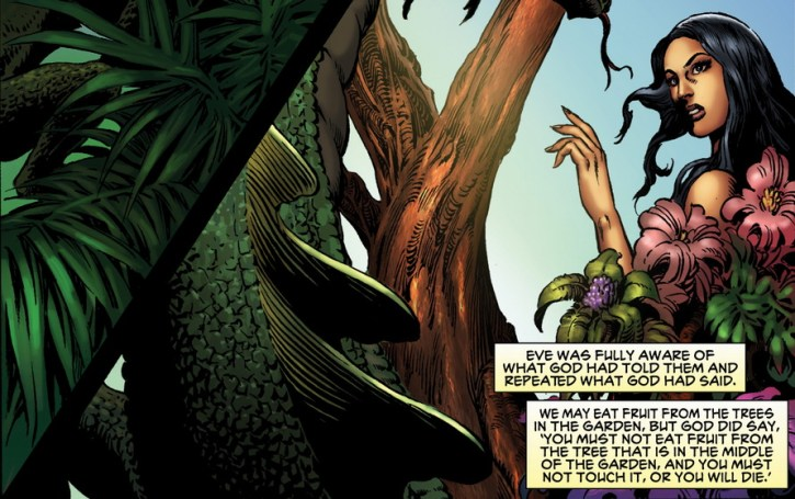 adam and eve serpent eden from the kingstone graphic novel bible