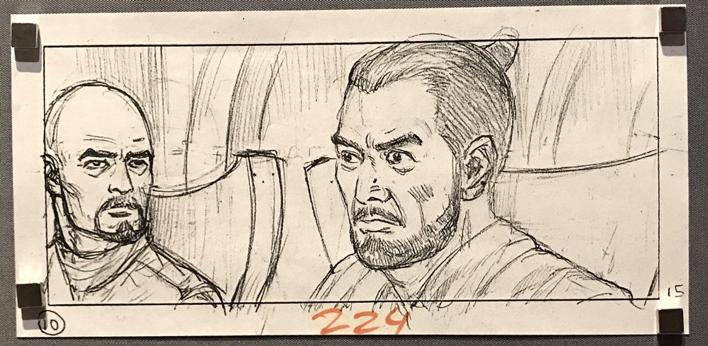 star wars storyboard panel #1