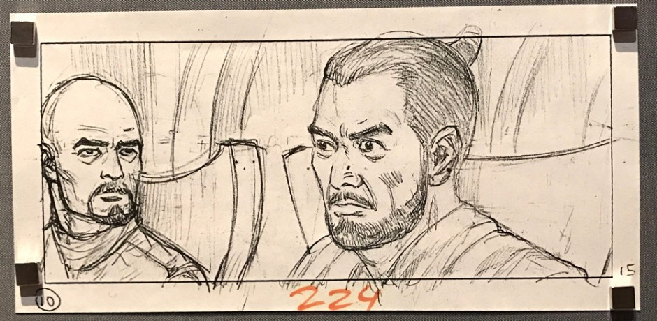 star wars storyboard panel #1