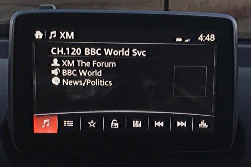 2017 mazda connect entertainment system xm radio bbc world service