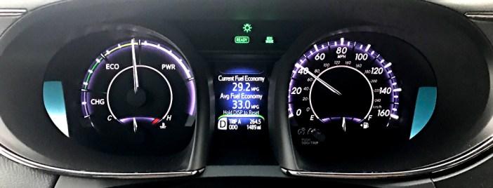 2017 toyota avalon hybrid dashboard controls guages