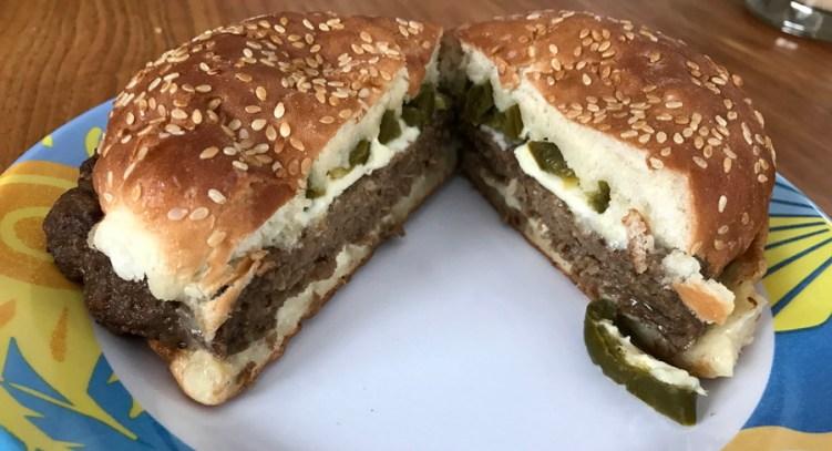 big az kickin' zesty jalapeño burger