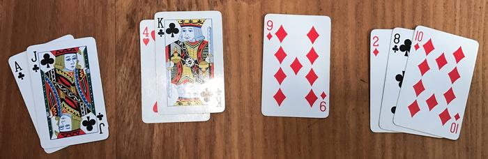 alternating cards phase, cribbage