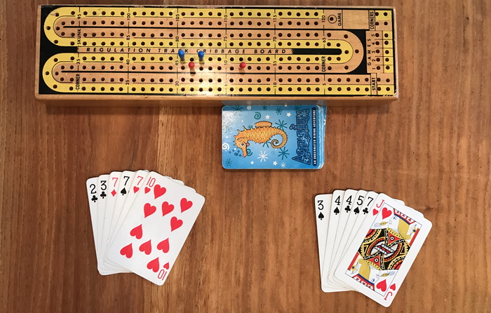 how do you play cribbage with two players