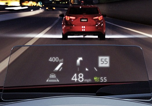 mazda 2017 heads up display