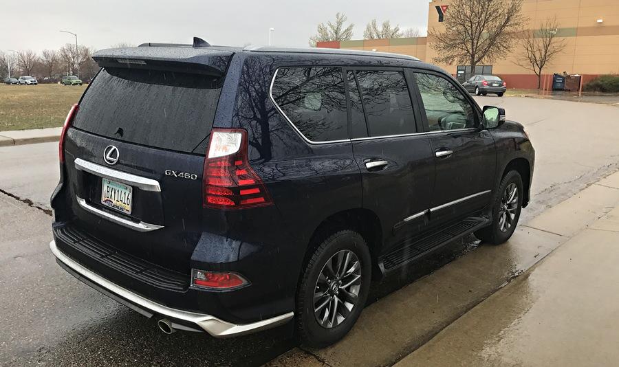 2017 lexus gx460 curb shot, rear