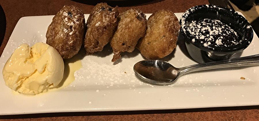 fried oreos, bd's mongo mongolian bbq