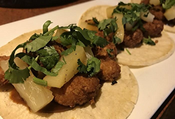 bd's mongolian bbq - coconut shrimp tacos