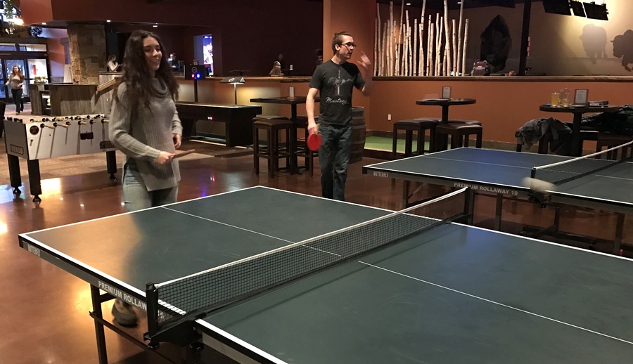 playing ping-pong, the wild game, longmont