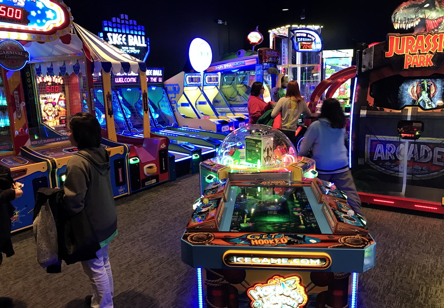 video game arcade area, the wild game longmont