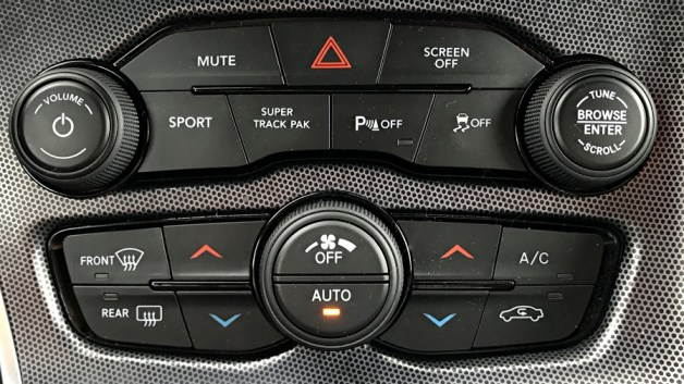 dash controls, 2017 dodge challenger