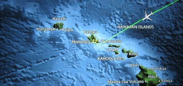 airplane route to hawaii