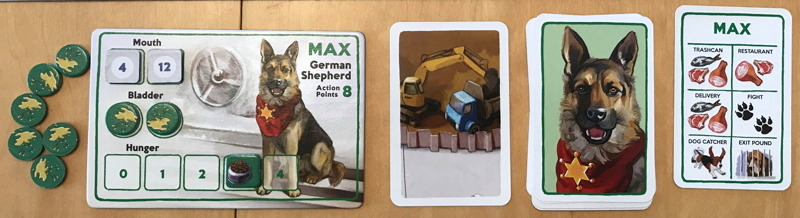 a dog's life action cards and character card