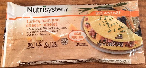 nutrisystem ham and cheese omelet