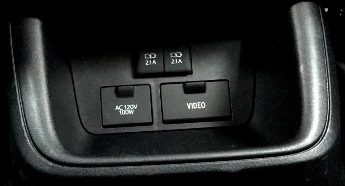 2017 toyota highlander rear passenger controls