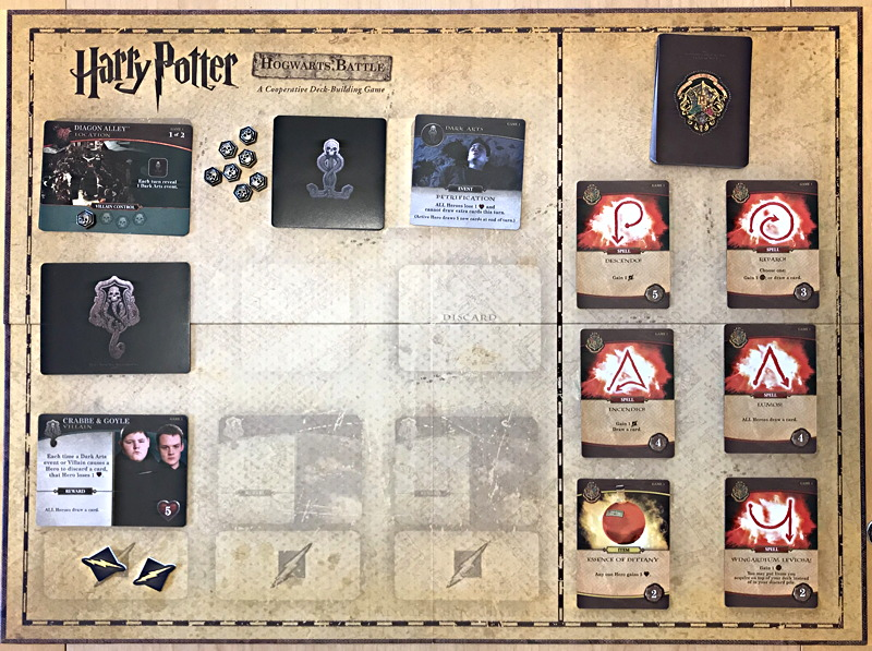 harry potter hogwarts battle board