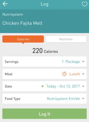 southwest fajita melt - nutrisystem numi