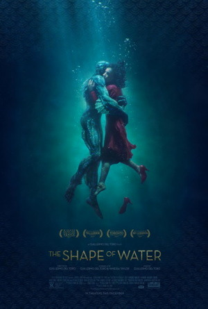 the shape of water one sheet movie poster