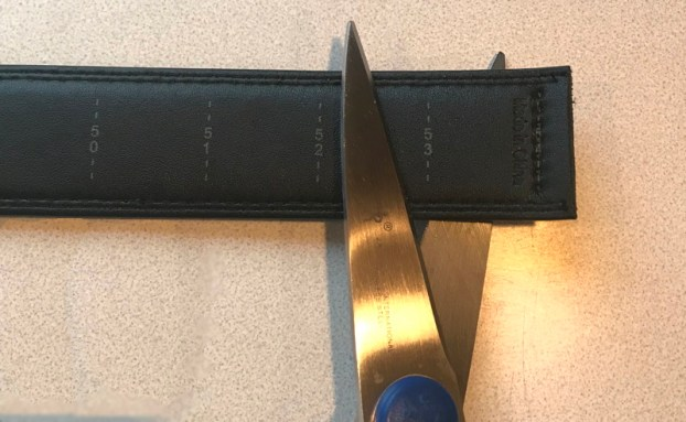 cutting leather belt - trakline