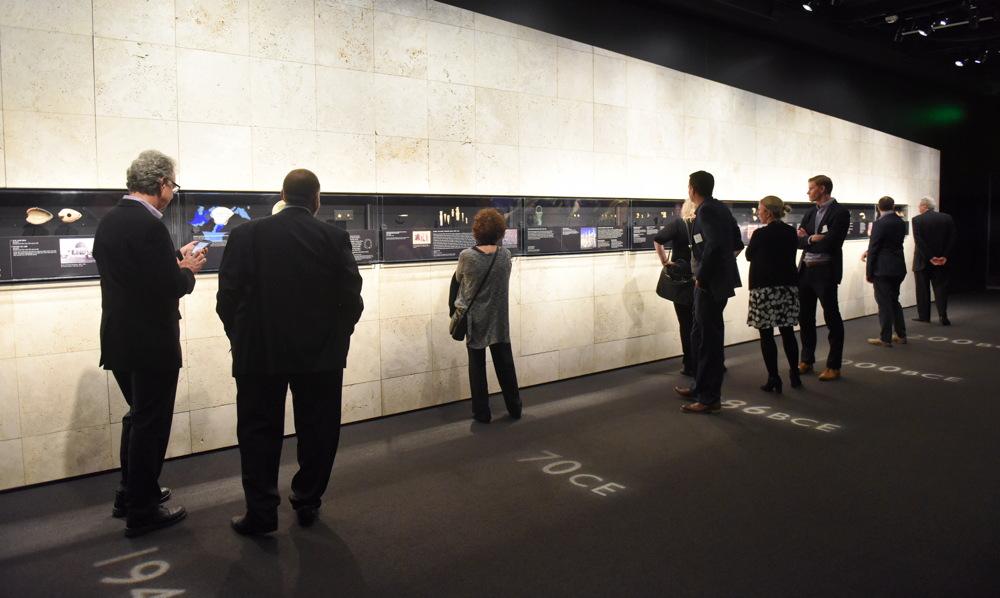 timeline area, dead sea scrolls exhibit, DMNS