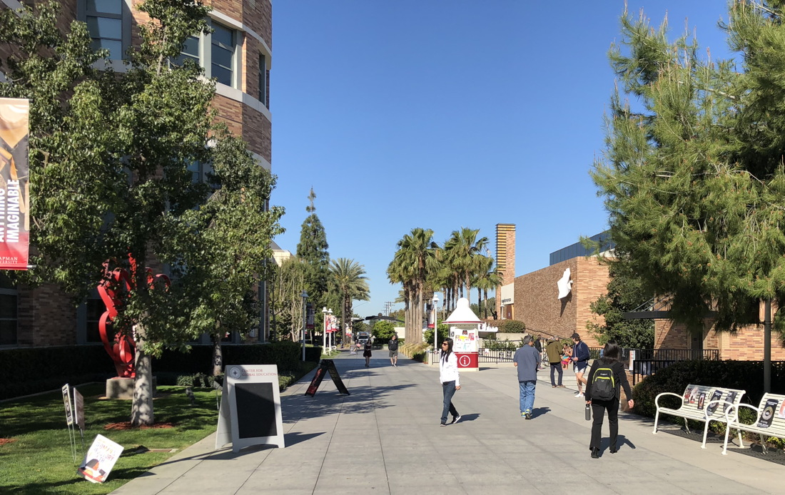 walkway, chapman university