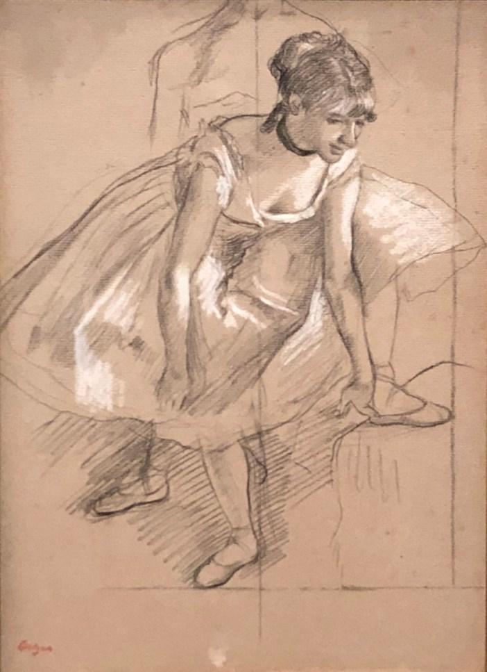 degas dancer adjusting her slipper