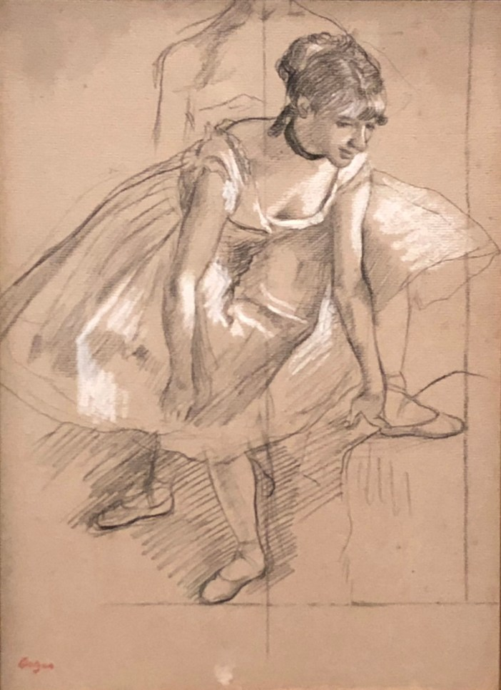 degas dancer adjusting her slipper