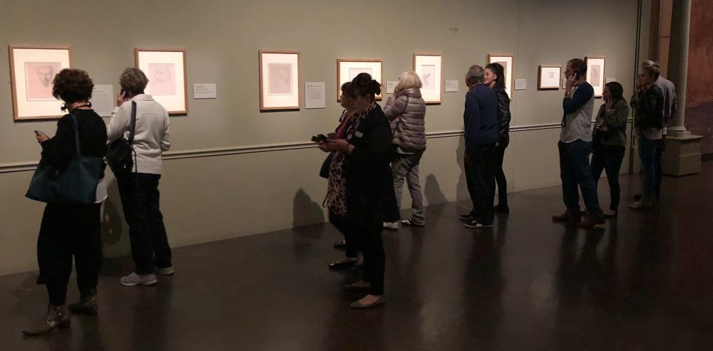 people enjoying exhibit, degas, denver art museum
