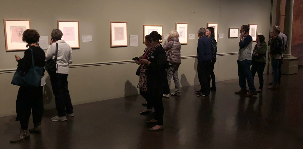 people enjoying exhibit, degas, denver art museum