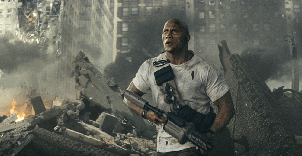 dwayne johnson from rampage movie