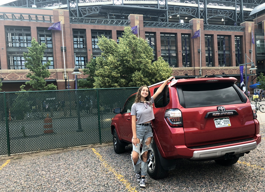 lot c parking, coors field, toyota 4runner