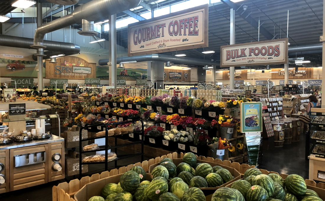sprouts farmers market, interior