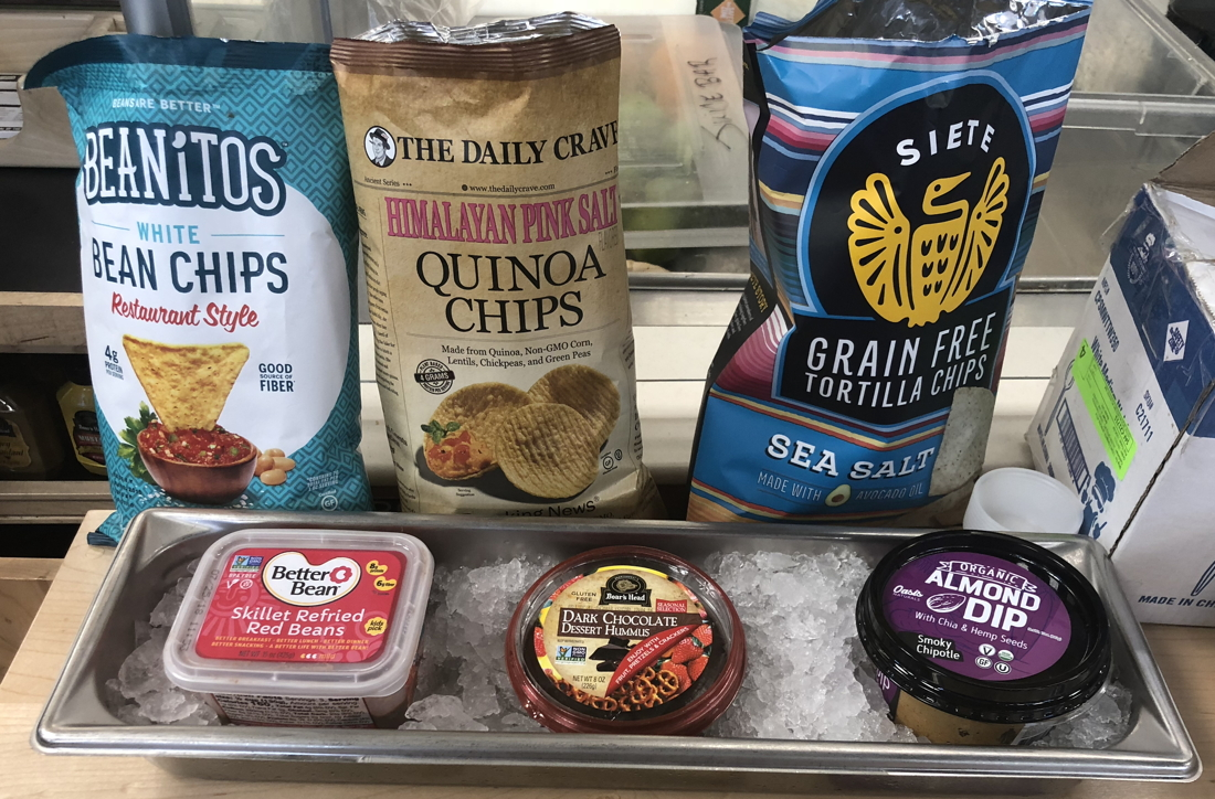 healthy vegan snack alternatives, chip and dip