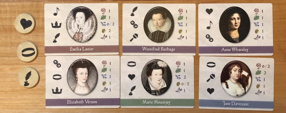 black sonata - six dark lady clue cards