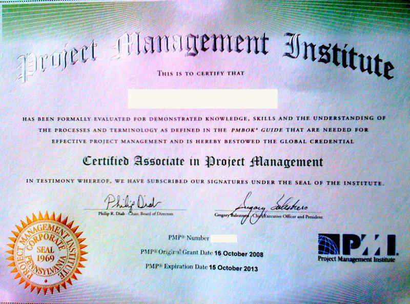 Pmi Certification Gofatherhood