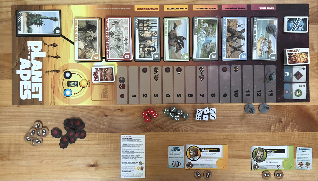 planet of the apes board game idw games review