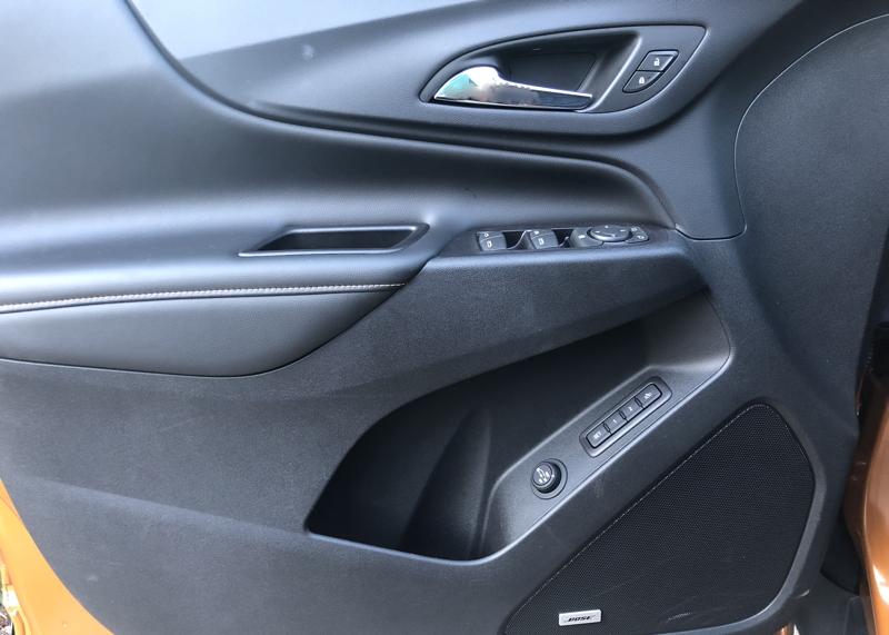 2018 chevy equinox premier driver's door controls