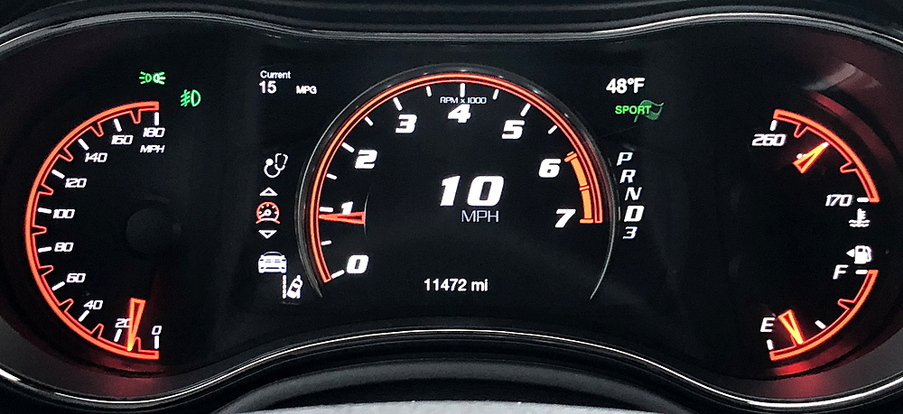 2018 dodge durango srt main gauge display dash