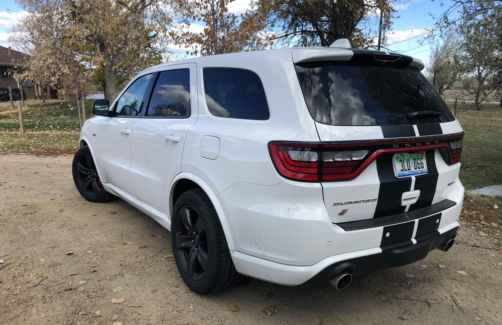 2018 dodge durango srt exterior rear