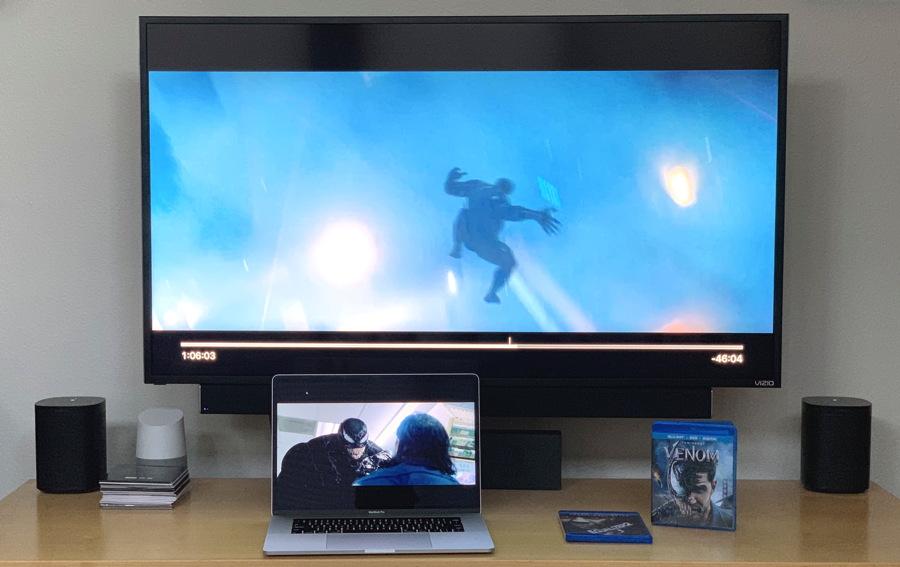 venom on TV and computer