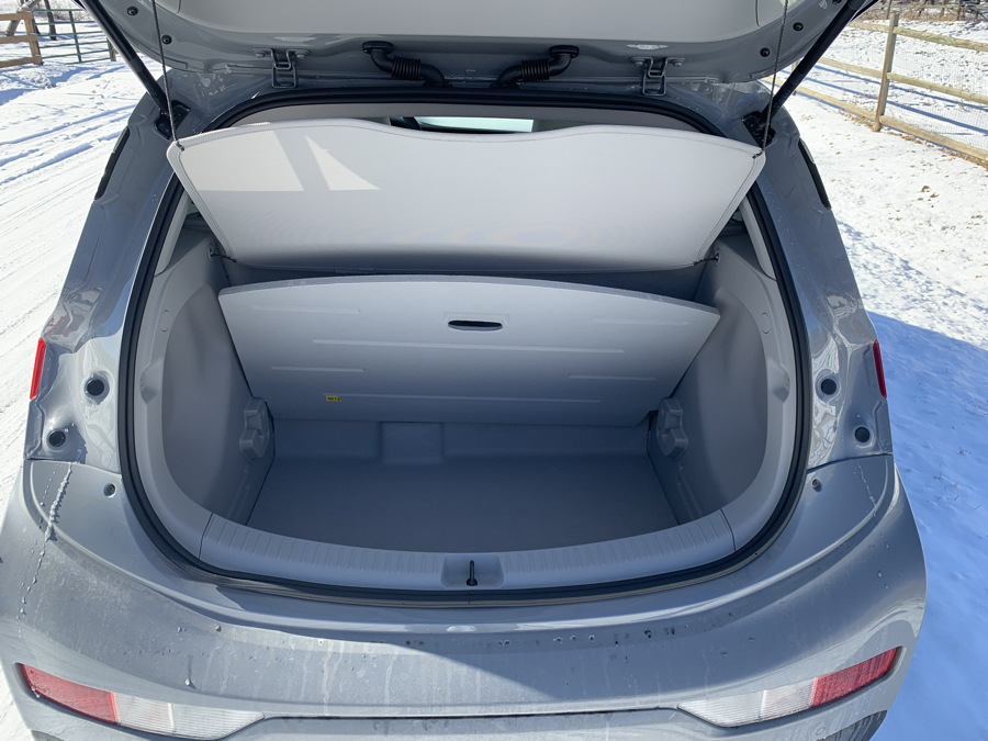 2019 chevy bolt ev premier back storage interior